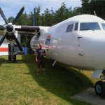 Angus at Fokker 50